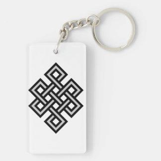 Tibetan eternity knot infinity endless symbol reli key ring