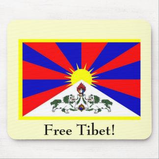 Tibetan Flag - Free Tibet! Mouse Pad