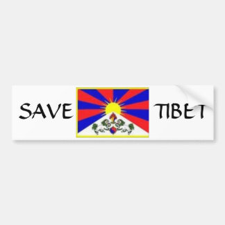 tibetan flag, SAVE, TIBET Bumper Sticker