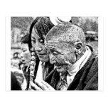 Tibetan Girl with Grandmother Post Card