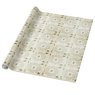 Tibetan Inspired Prayer Flag Design Wrapping Paper
