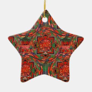 Tibetan Mandala Christmas Ornament