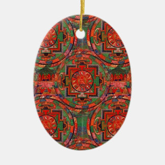 Tibetan Mandala Christmas Ornament