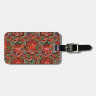 Tibetan Mandala Luggage Tag