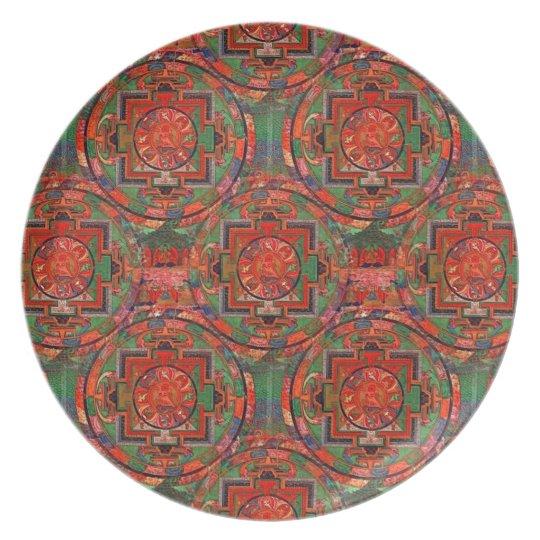 Tibetan Mandala Plate