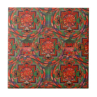 Tibetan Mandala Small Square Tile