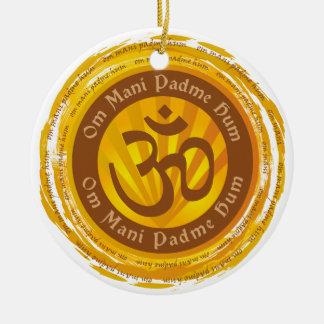 Tibetan Mantra Aum Symbol Christmas Ornament