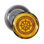 Tibetan Mantra Dharma Wheel 6 Cm Round Badge