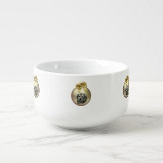 Tibetan Mastiff Soup Bowl With Handle