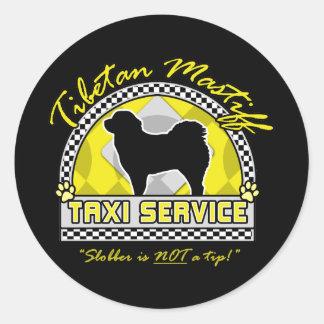 Tibetan Mastiff Taxi Service Round Sticker