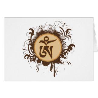Tibetan Om Greeting Card