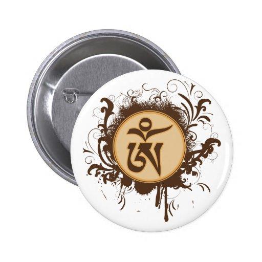 Tibetan Om Pinback Buttons
