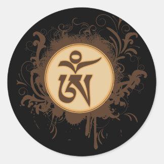Tibetan Om Round Sticker