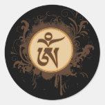 Tibetan Om Round Stickers