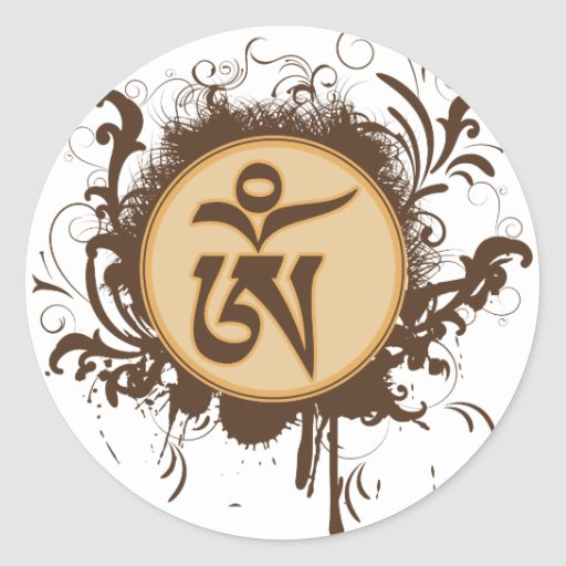 Tibetan Om Stickers
