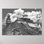 Tibetan Photo:  Potala Palace, Lhasa, B&W Poster