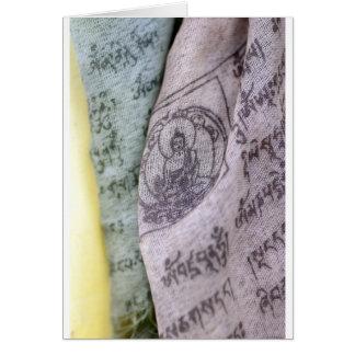 Tibetan Prayer Flags Greeting Card