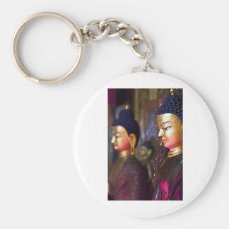 Tibetan Shrine Buddha Basic Round Button Key Ring