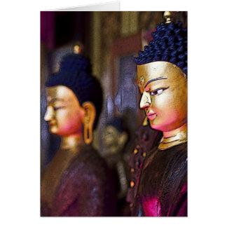 Tibetan Shrine Buddha Greeting Card