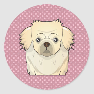 Tibetan Spaniel Cartoon Classic Round Sticker