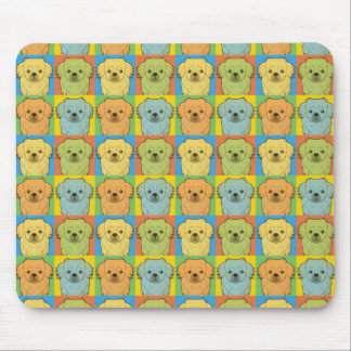Tibetan Spaniel Cartoon Pop-Art Mouse Mat