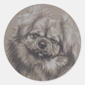 Tibetan Spaniel Classic Round Sticker