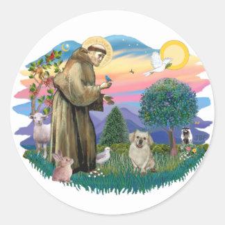 Tibetan Spaniel (fawn) Classic Round Sticker