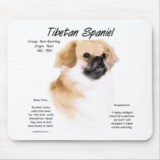Tibetan Spaniel History Design Mousepads