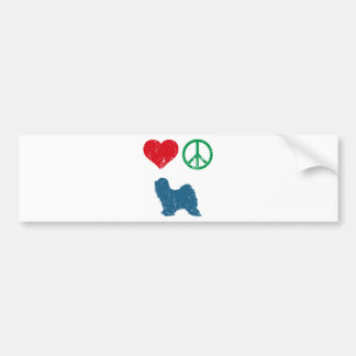 Tibetan Terrier Bumper Sticker