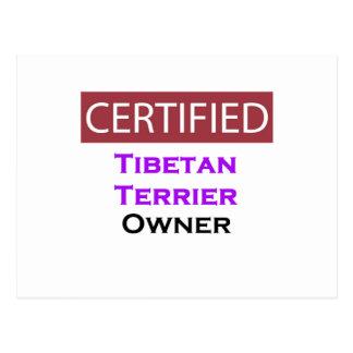 Tibetan Terrier Certified Owner Postcard