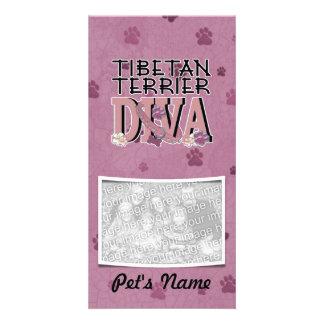 Tibetan Terrier DIVA Customized Photo Card