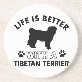 Tibetan Terrier dog breed designs Coaster