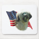 Tibetan Terrier Flag Mouse Pad