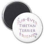 Tibetan Terrier Furever Friend Fridge Magnet