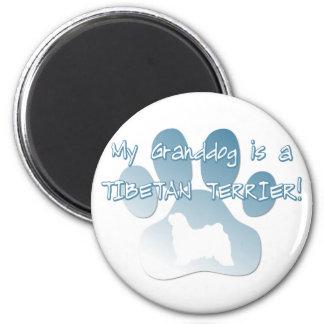 Tibetan Terrier Granddog 6 Cm Round Magnet
