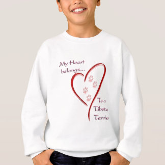 Tibetan Terrier Heart Belongs Sweatshirt