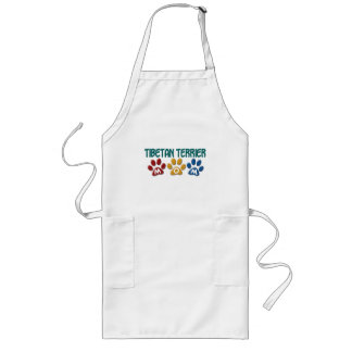 TIBETAN TERRIER Mom Paw Print 1 Long Apron