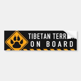 Tibetan Terrier On Board Bumper Sticker
