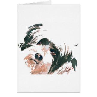 Tibetan Terrier portrait Greeting Card