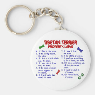 TIBETAN TERRIER Property Laws 2 Key Ring