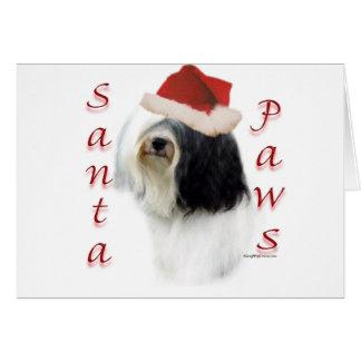 Tibetan Terrier Santa Paws Card