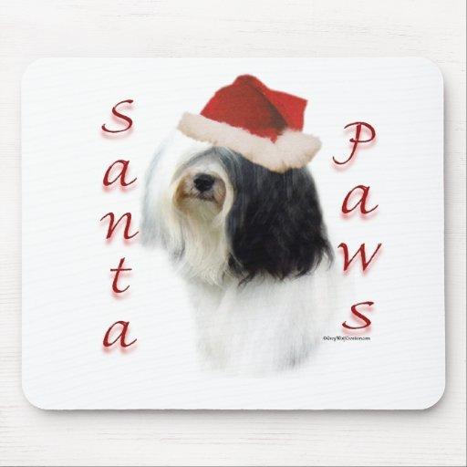 Tibetan Terrier Santa Paws Mouse Pad