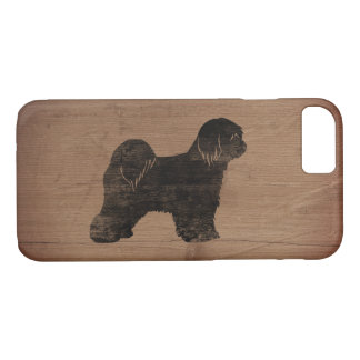 Tibetan Terrier Silhouette Rustic iPhone 8/7 Case