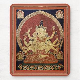 Tibetan Thangka of Guhyasamaja Akshobhyavajra Mouse Pad