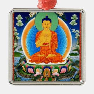 Tibetan Thangka Prabhutaratna Buddha Christmas Ornament