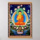Tibetan Thangka Prabhutaratna Buddha Poster