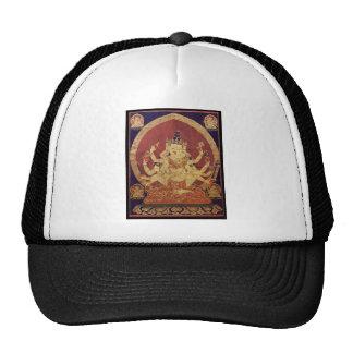 Tibetan Thanka of Guhyasamaja Akshobhyavajra Hats