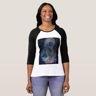Tibetan Woman: Abstract blue front, original rear T-Shirt