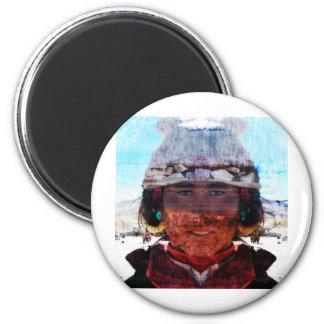 tibetian2 6 cm round magnet