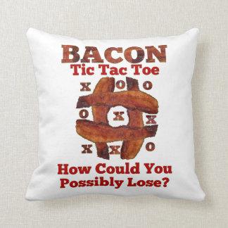 Tic Tac Bacon Cushion
